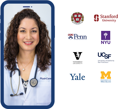 Plushcare Doctor and Medical School Logos